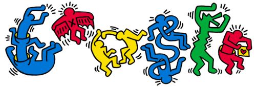 Keith Haring : gioioso doodle-Google per l'anniversario della nascita dell'Artista.