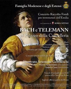 Bach & Telemann per l' Emilia
