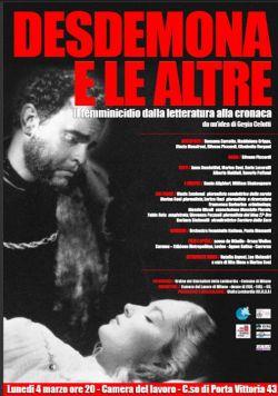Desdemona e le altre – Il femminicidio dalla letteratura alla cronaca.