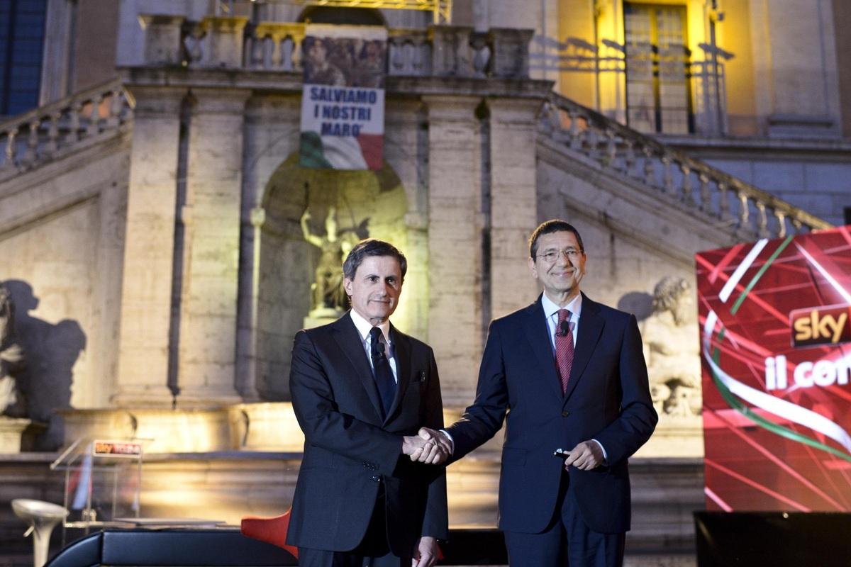 Gianni e Ignazio al capezzale di Roma.