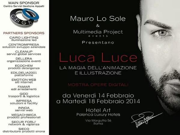 La vitalità creativa del dito-pennello di Luca Luce fino a Martedì 18 Febbraio 2014
